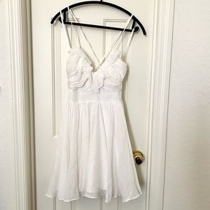 White flow-y dress!